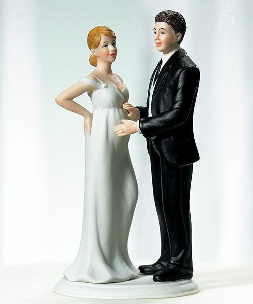 Pregnant Bride Wedding Cake Toppers
