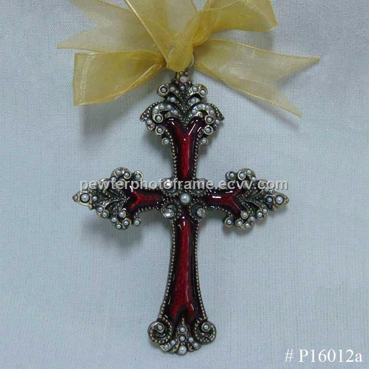 Metal cross ornament purchasing souring agent ecvv