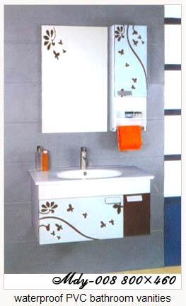 Waterproof pvc bathroom vanities purchasing souring agent for Waterproof bathroom cabinets