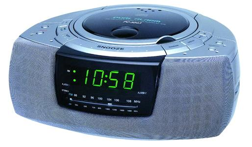 electronic alarm cd clock radio. Black Bedroom Furniture Sets. Home Design Ideas