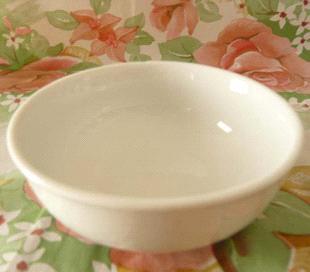 Porcelain bowl in oven