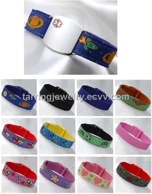 Medical ID bracelets - Girls Beaded Medical Id Alert Bracelets