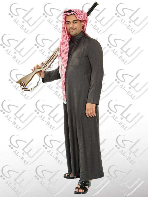 New Arrial Islamic Gray Thobes Abaya Clothing Set Arabic mens Jalabiya Middle eastern Traditional Cloth for