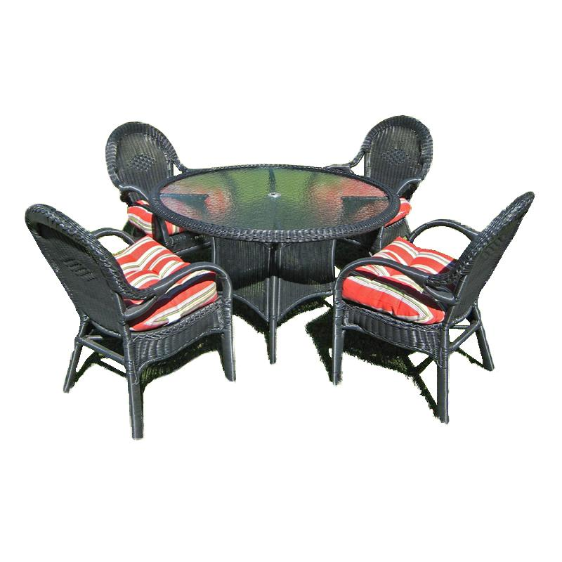 Highland 5 Piece Outdoor Wicker Dining Set ZF R1138 China