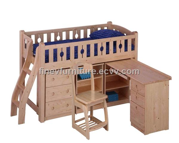 Loft Bunk Bed with Desk 600 x 480