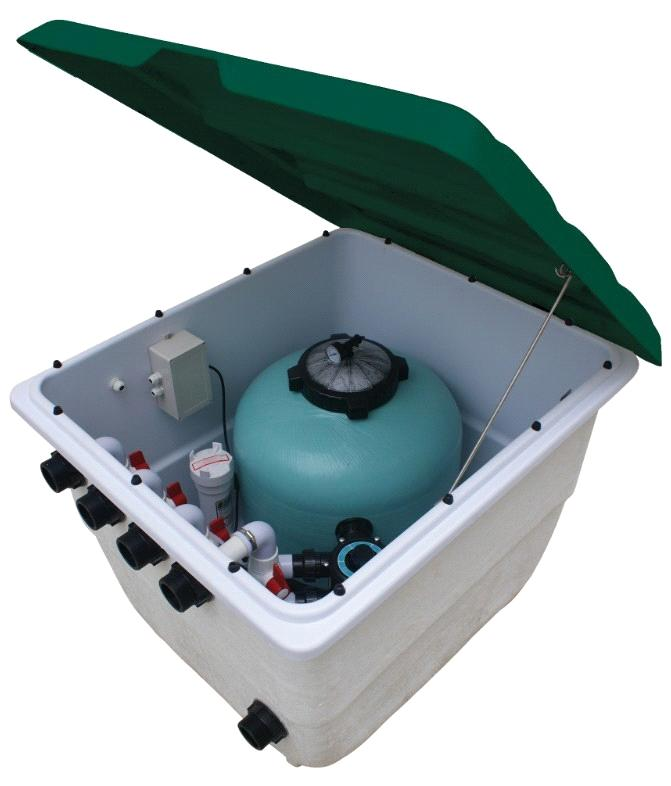 Intpool underground integrated filter equipment purchasing for Chlorine piscine