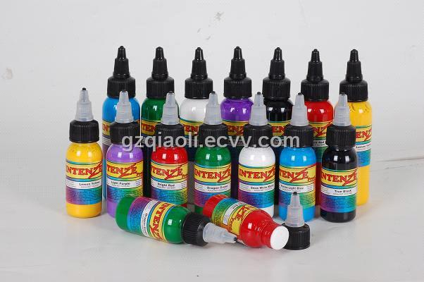 Tattoo ink intenze ink purchasing souring agent ecvv for Tattoo ink color chart