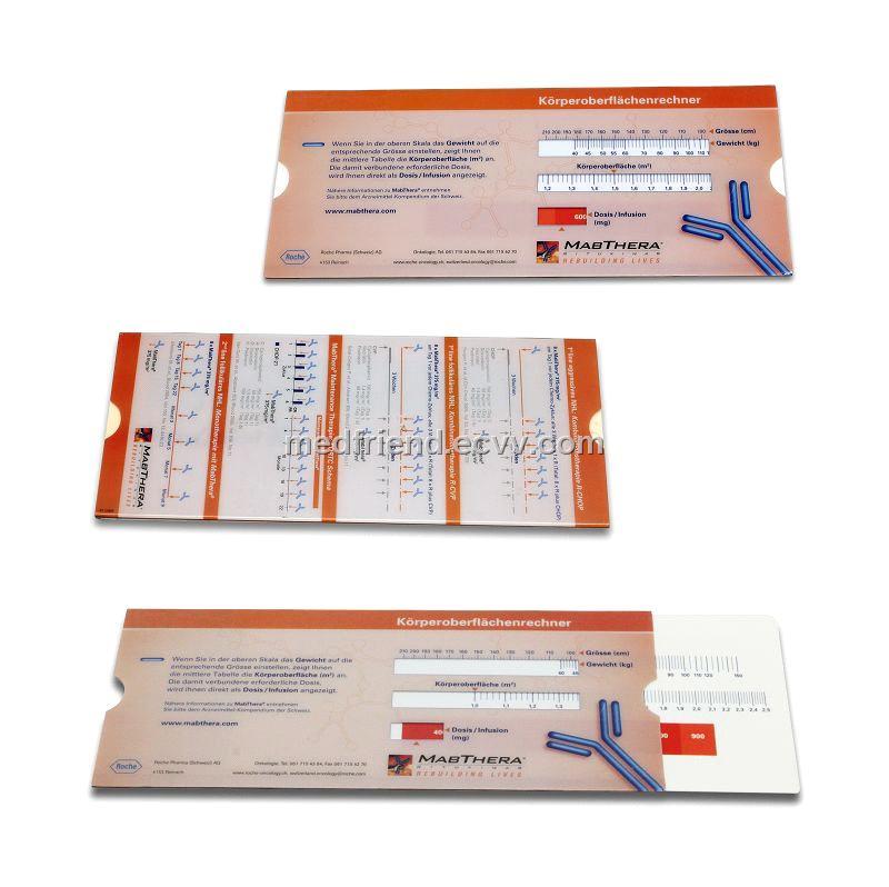 BSA Ruler / Body Surface Area Calculator (MF0316) - China BSA ruler ...