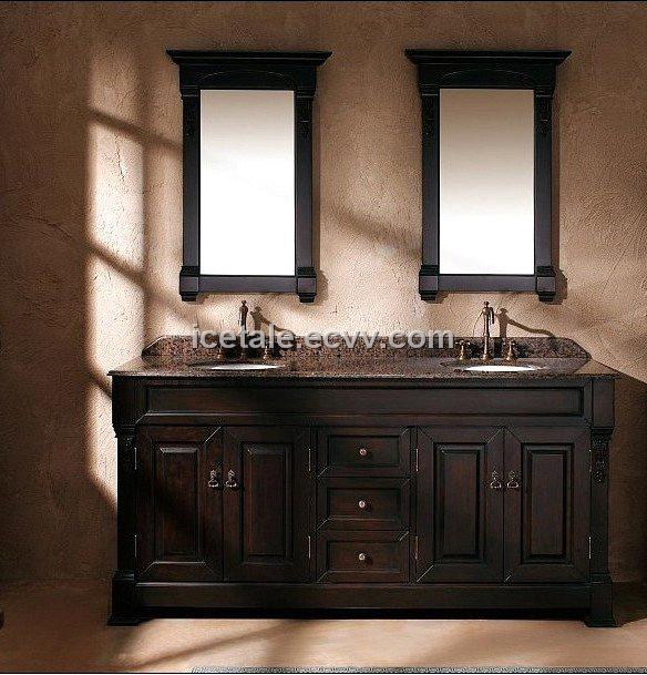 European antique solid wood bathroom vanity double sink 5555 purchasing souring agent ecvv for Solid wood double sink bathroom vanity