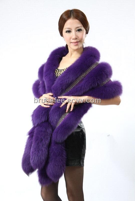 fur shawl with decoration diamonds 5 colors wedding shawls party dress