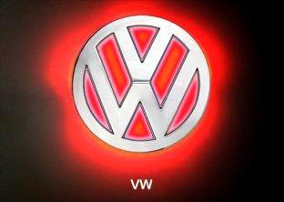 W Car Logo Car Emblem/Red LED Car Rear Logo Light for VW - China Car Badges Logos ...