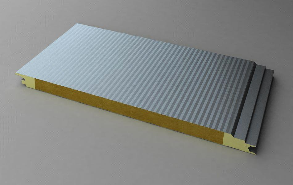 Composite Sandwich Panel : Smooth flat pir composite panel connection joint