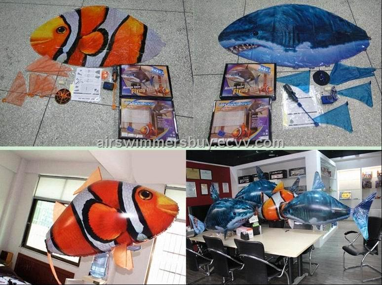 XMAS Gifts, Free Shipping, RC Air Swimmers Shark/Clownfish.CHEAP PRICE