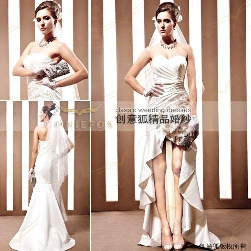 elegant designer classic short wedding dresses 90069