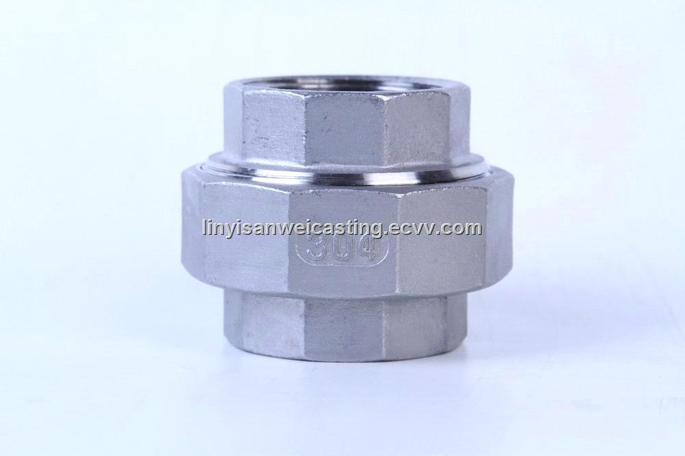 Stainless steel pipe fittings screwed bsp