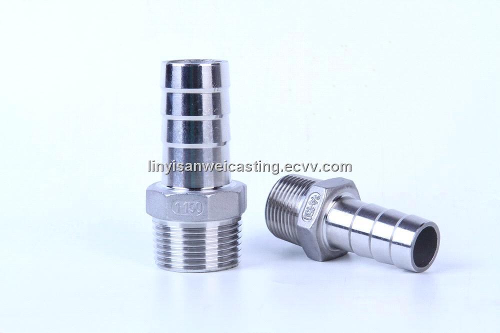 Stainless steel screwed pipe fittings threaded