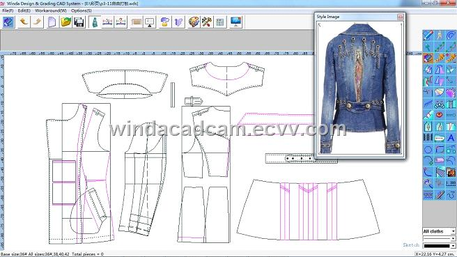 Winda garment cad system purchasing souring agent ecvv Cad system