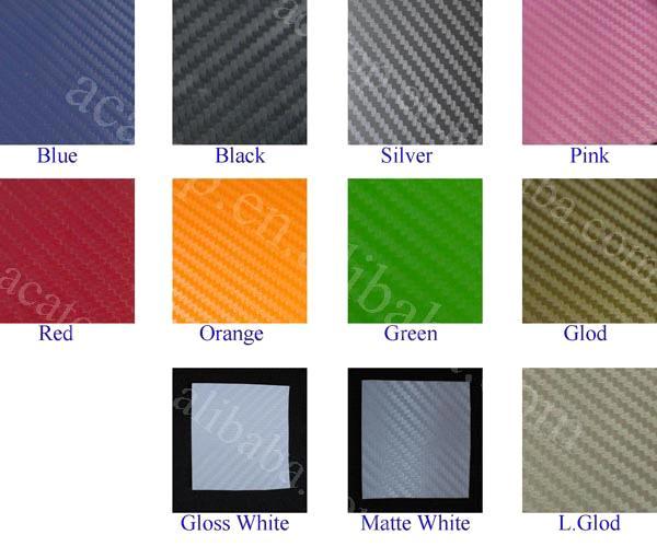 127cm width colorful 3d carbon fiber vinyl film
