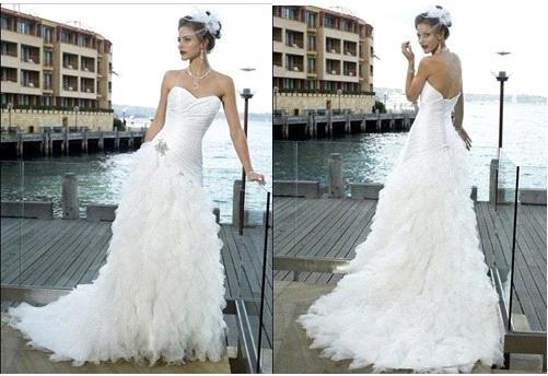 2011 new sweetheart neck beach wedding dress