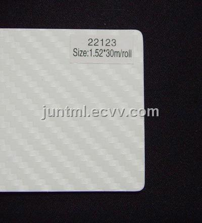 22123 white big texture 3D carbon fiber vinyl film