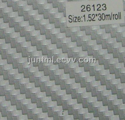 26123 silver big texture 3D carbon fiber vinyl film