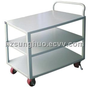 Flatbed trolley|Three layers white flatbed trolley DTR-2121