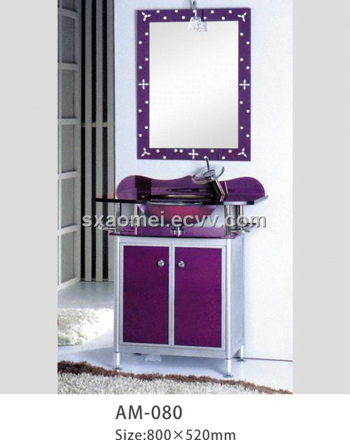 Glass basin (AM-080) (AM-080) - China Glass Bathroom Furniture ...