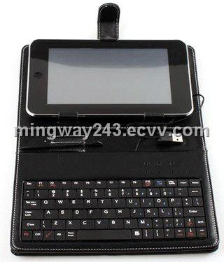 tablet PC leather case with keyboard, Keyboard Leather case for all