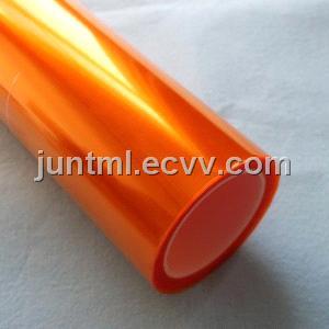 Orange headlight protection film