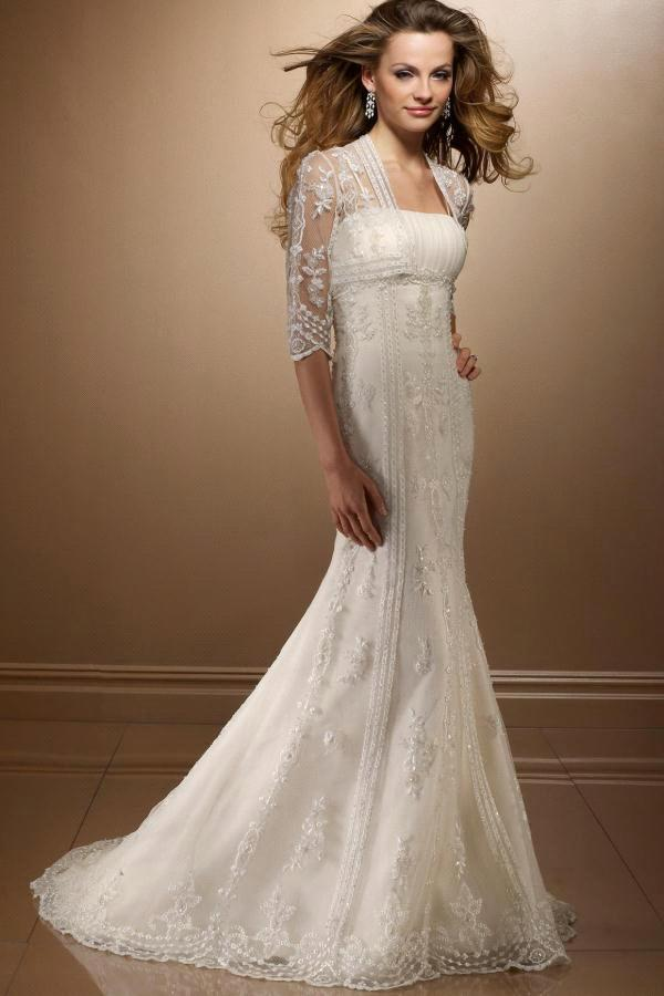 a Line Full Length Lace