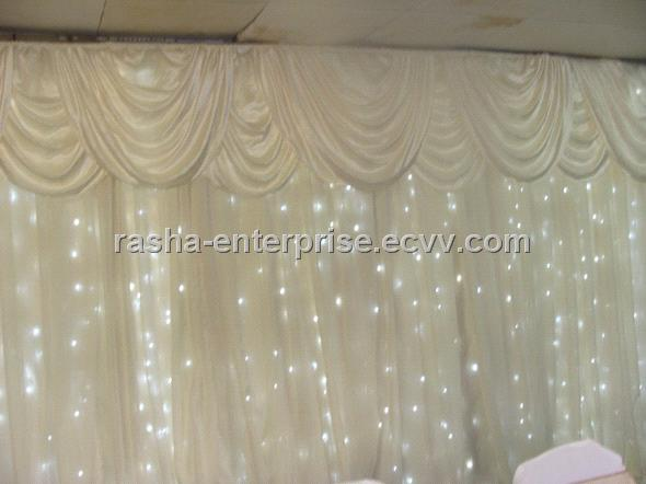 White Wedding Decoration LED CurtainLED StarclothLED Curtain