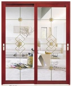 Interior Hanging Sliding Aluminum Door With Double Sided Glass Available In Various Designs