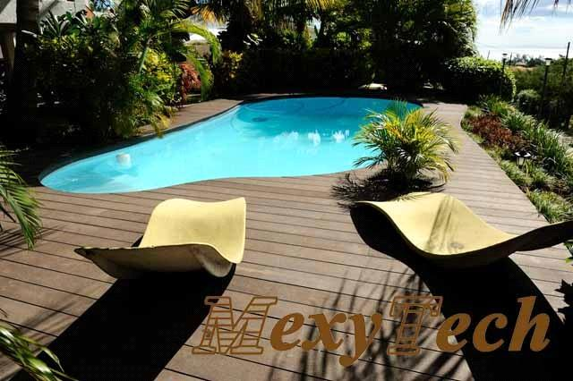 Platelage piscine mexytech bois synthetique fournisseur for Fournisseur piscine