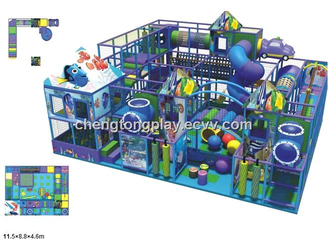 Sea World Themed Indoor Playground Equipment For Kids