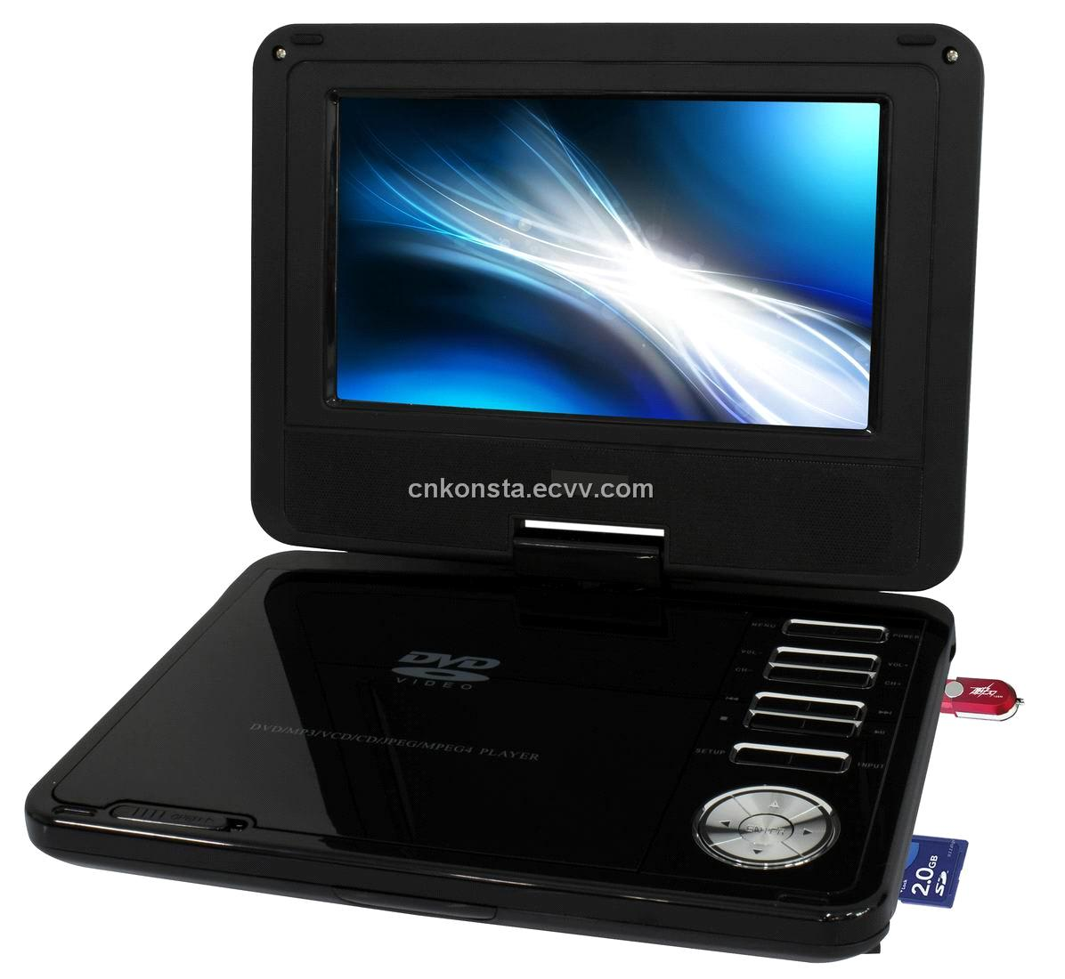 3d function 7 39 39 portable dvd player cheap price good quolity tv dvd usb sd gmae cd divx card. Black Bedroom Furniture Sets. Home Design Ideas