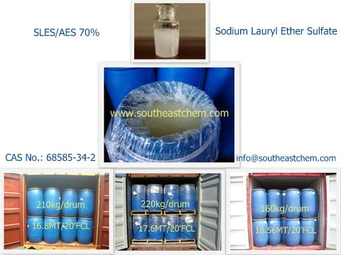 Sodium Lauryl Ether Sulfate Sles 70 For Dishwashing Liquid Of