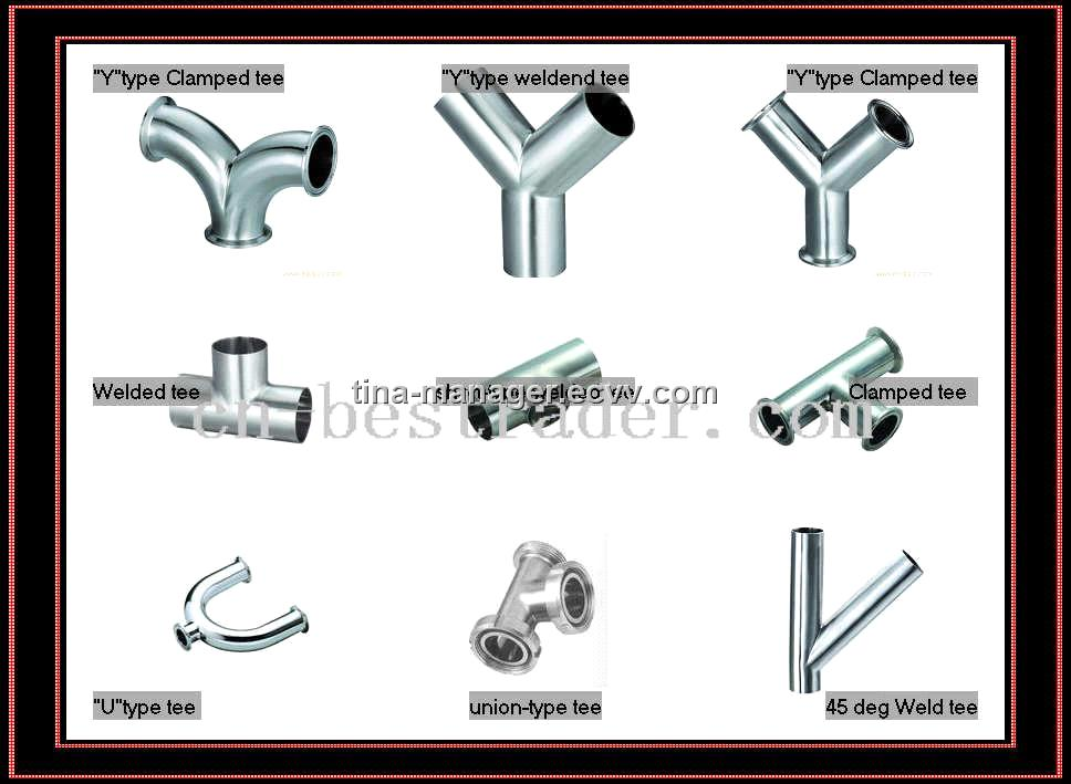 Sanitary stainless steel pipe tee fitting purchasing