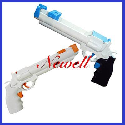 Motion Plus Light Gun Revolver For Nintendo Wii Remote