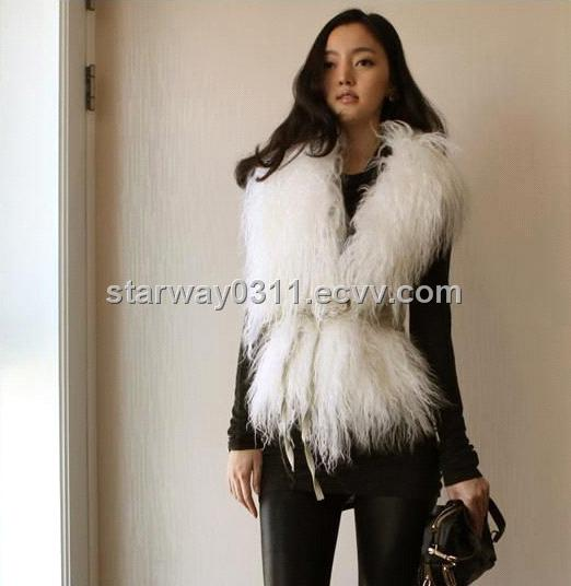Women's Sheepskin Sheep Fur Coats Fur Jacket with 3 Colors Europe ...