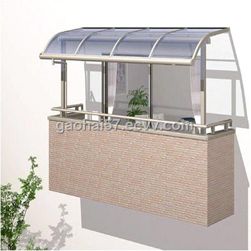 Balcony awnings awning sunroom glass awning for Balcony awning