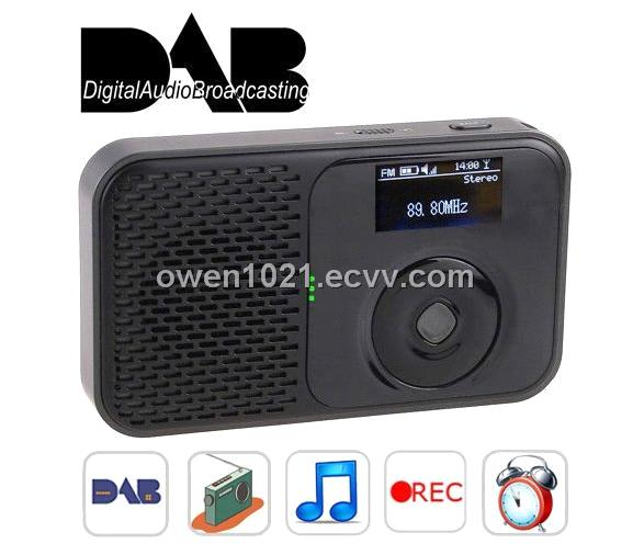 portable dab and dab digital radio with fm radio mp3 player digital clock with radio alarm. Black Bedroom Furniture Sets. Home Design Ideas