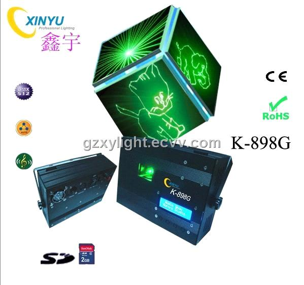 Single Blue K-898 SD Card Mini Animation Laser Light - Stage Effect Machine