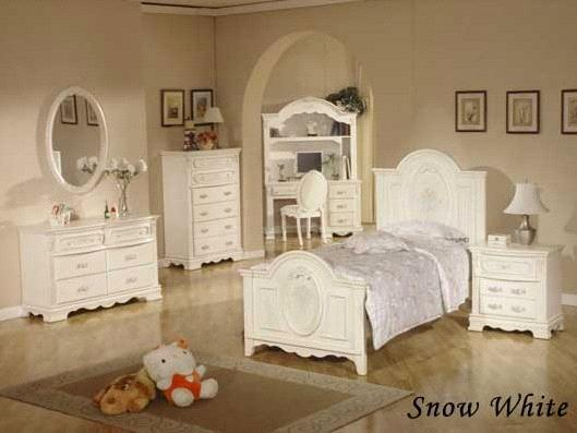 Snow White Classic Bedroom Set with Queen Bed (HDB013) (HDB013
