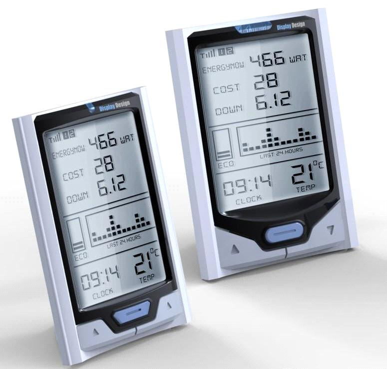 Wireless Home Energy Monitor : Wireless home electricity energy monitors with solar power
