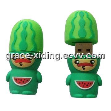 USB Flash Drive  gt  PVC Cartoon Characters Watermelon USB Flash DriveWatermelon Cartoon Characters