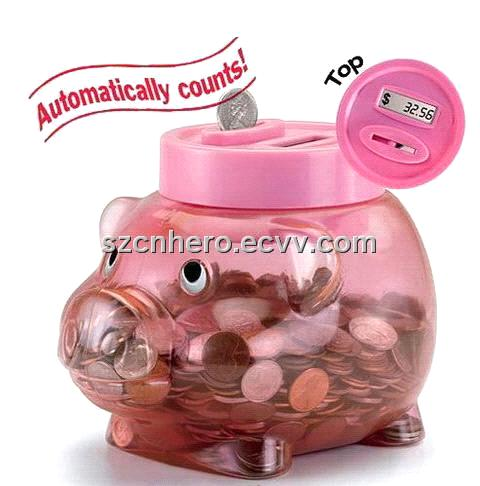 Digital coin counting piggy bank for kids hr 308 purchasing souring agent - Counting piggy bank ...