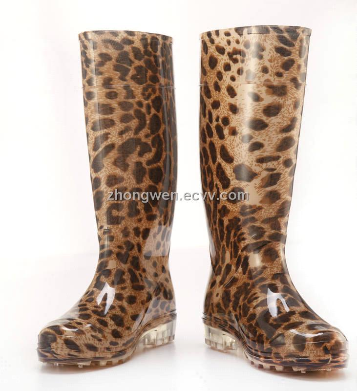 Cheetah Rain Boots For Women - Yu Boots