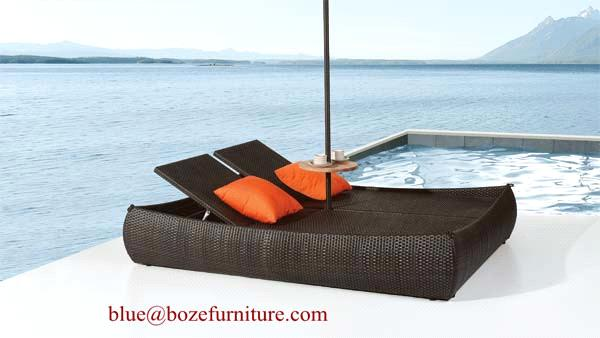 outdoor furniture double seats wicker good quality chaise. Black Bedroom Furniture Sets. Home Design Ideas