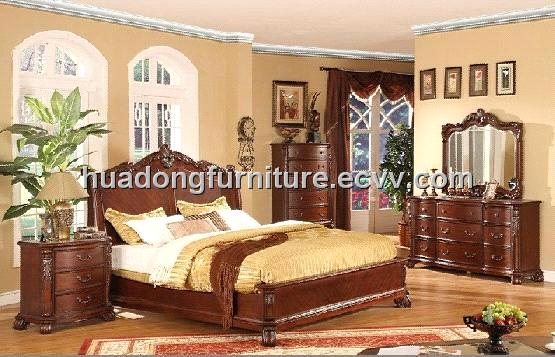 2011 Hot product Solid Wood Bedroom Furniture (HDB010)