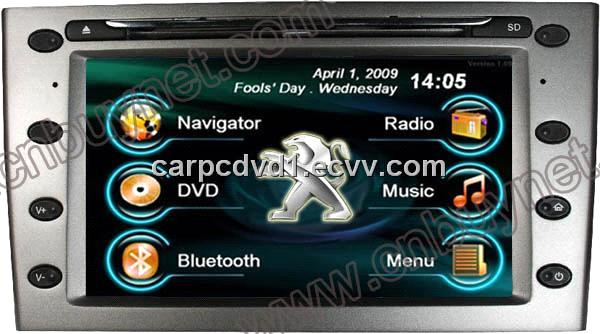 peugeot 407 multimedia navi dvd player bluetooth radio